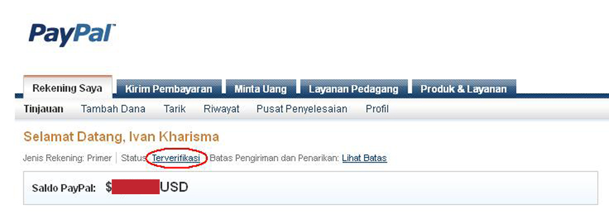 contoh paypal